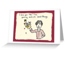 Sherlock Loves You Greeting Card