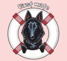 Belgian Sheepdog :: First Mate One Piece - Long Sleeve