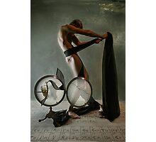 Black Ribbon Photographic Print