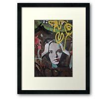 """Warhol Stencil Graffiti """"Mia Undone"""" Framed Print"""