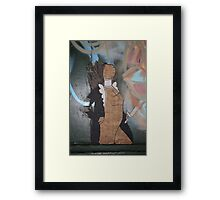 "Modern Graffiti - Paste Up Paper  ""Joan of Arc"" Framed Print"
