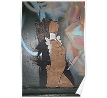 "Modern Graffiti - Paste Up Paper  ""Joan of Arc"" Poster"