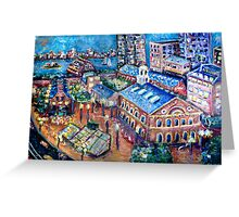 Faneuil Hall, Boston Massachusetts  Greeting Card