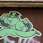 """Monopoly Man """"Richer Than Ever"""" Paper Graffiti by Punk60"""