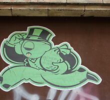 "Monopoly Man ""Richer Than Ever"" Paper Graffiti by Punk60"