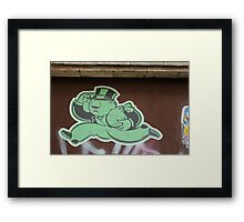 "Monopoly Man ""Richer Than Ever"" Paper Graffiti Framed Print"