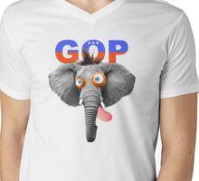 GOP (Republican Party) Mascot Mens V-Neck T-Shirt