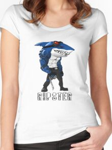 Ripster Street Sharks Women's Fitted Scoop T-Shirt