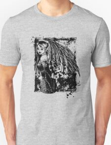 The Girl With The Wings B&W Unisex T-Shirt