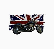 Patriotic Union Jack, UK Union Flag, Motorcycle Unisex T-Shirt