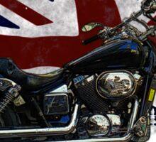 Patriotic Union Jack, UK Union Flag, Motorcycle Sticker