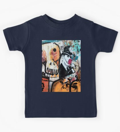 Banksy Style Copper and Flower Kids Tee