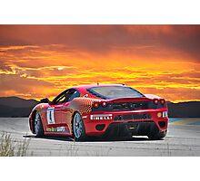 Ferrari F430 Going Away Photographic Print