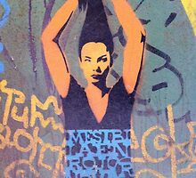 """Awesome Stencil Graffiti - """"Hair There"""" by Punk60"""