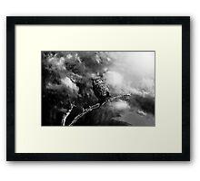 Coming Storm - Black/White Framed Print