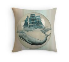 The Battle - Captain Ahab and Moby Dick Throw Pillow
