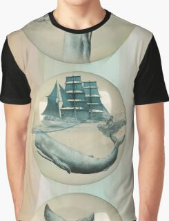 The Battle - Captain Ahab and Moby Dick Graphic T-Shirt