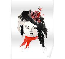 Winter Watercolor Girl Poster