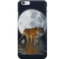 Tiger Cub, Wild-Cat, Full Moon, Animal, Fantasy iPhone Case/Skin