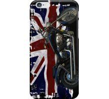 Patriotic Union Jack, UK Union Flag, Motorcycle iPhone Case/Skin