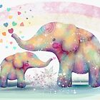 elephant affection by Karin  Taylor