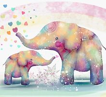 elephant affection by © Karin (Cassidy) Taylor