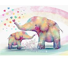 elephant affection Photographic Print