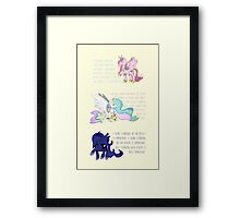 I Am A Princess [MLP Princesses] Framed Print