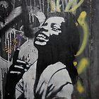 "Banksy Style Stencil Graffiti -  ""Happy"" by Punk60"