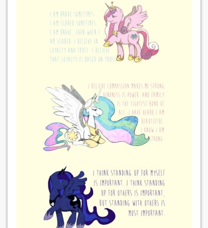 I Am A Princess [MLP Princesses] Sticker
