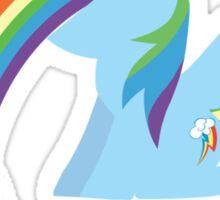 Rainbow Dash Rainbow Vomit Sticker
