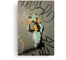"Banksy Style Stencil Graffiti -  ""World Games"" Canvas Print"