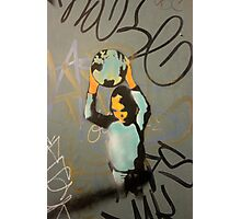 "Banksy Style Stencil Graffiti -  ""World Games"" Photographic Print"