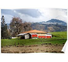 Rural Area Barn Poster