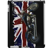 Patriotic Union Jack, UK Union Flag, Motorcycle iPad Case/Skin