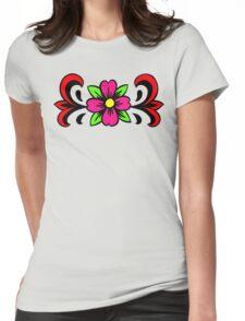 Flower banner Womens Fitted T-Shirt