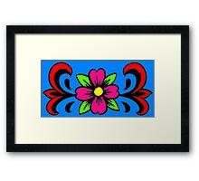 Flower banner Framed Print