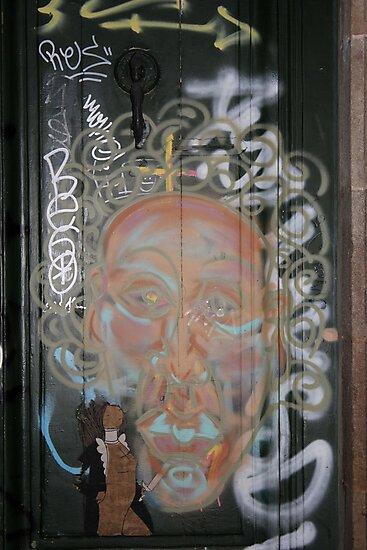 "Street Art Graffiti From Barcelona - ""E"" by Punk60"