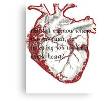 My Whole Heart Canvas Print