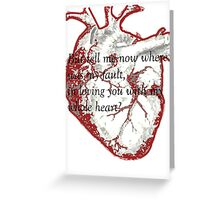 My Whole Heart Greeting Card