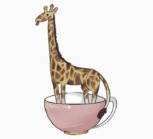 Giraffe in a tea cup by WanNyan