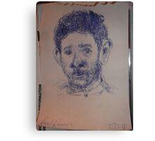 Self-portrait -(270313)- A5 Sketchbook/Blue biro pen Canvas Print