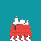 Snoopy Christmas Sleep by gleviosa