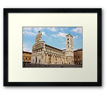 Basilica San Michele in Foro in Lucca, Italy Framed Print