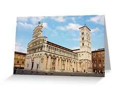 Basilica San Michele in Foro in Lucca, Italy Greeting Card