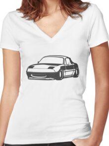 Miata Women's Fitted V-Neck T-Shirt
