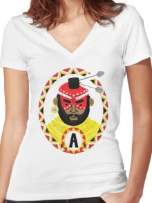 The last of the Mohicans Women's Fitted V-Neck T-Shirt