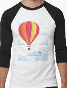 Picnic in a Balloon on a Cloud Men's Baseball ¾ T-Shirt