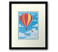 Picnic in a Balloon on a Cloud Framed Print