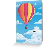 Picnic in a Balloon on a Cloud Greeting Card
